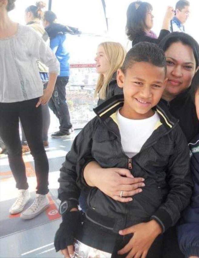Dance teacher Kim Isaacs with Cameron: Credit: Jamie Pyatt News Ltd