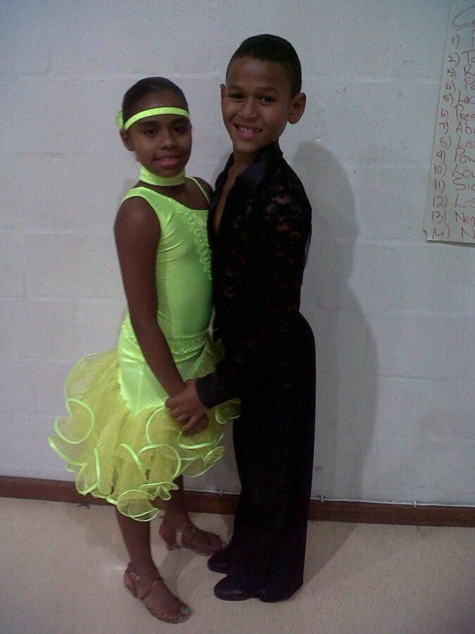 With dance partner when Cameron, 12, and Donlynn Fischer, 13, is South Africa's Got Talent 2012