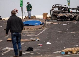 Durban-protests violent South Africa