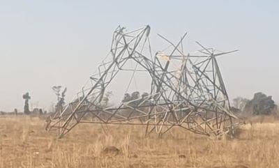 Collapsed pylon. Photo: Eskom