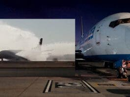 Water salute Bram Fischer Airport Safair