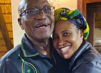 Jacob Zuma and daughter Dudu Zuma-Sambudla