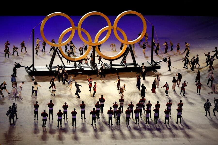 Olympics Games wooden rings