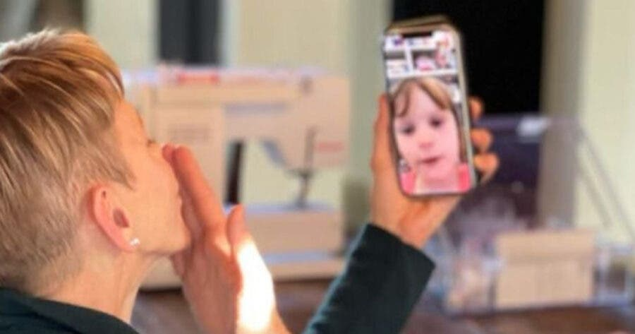 Princess Charlene Shares FaceTime Photos from South Africa, Blowing Kisses to her Children. Photos: Instagram / Princess Charlene
