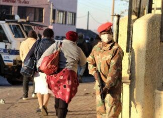 SANDF South Africa army deployed