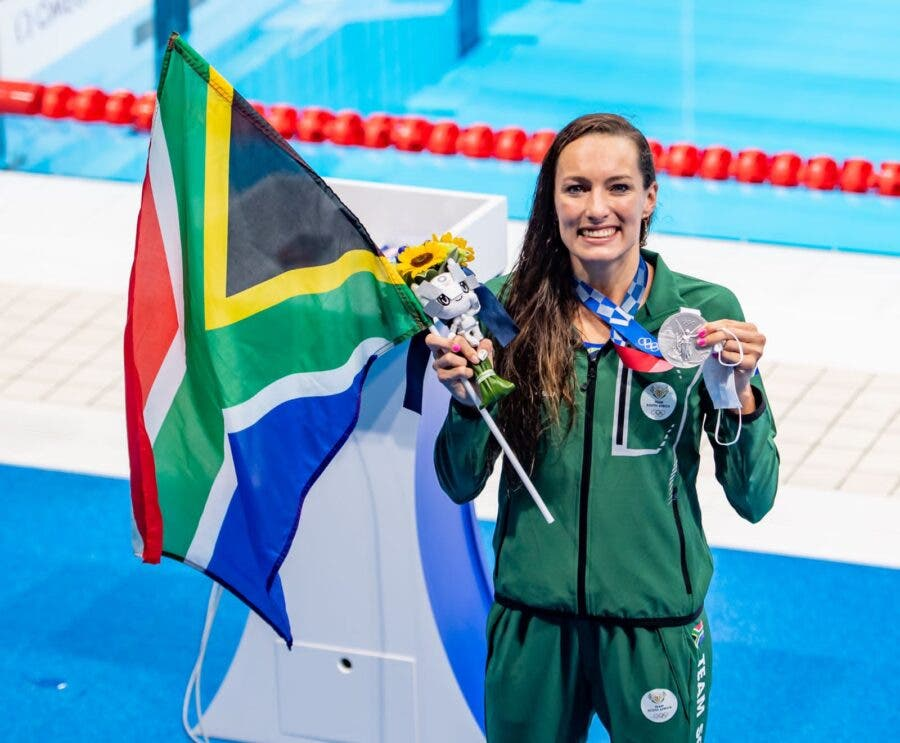 Tatjana Schoenmaker wins silver at Tokyo Olympics Photo: Anton Geyser