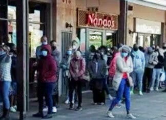 Queues in South Africa for Food and Fuel Stretch for Kilometres