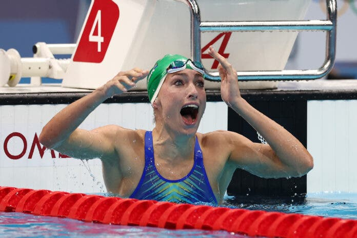 Tatjana Schoenmaker Wins GOLD in World Record Breaking Time at Olympics