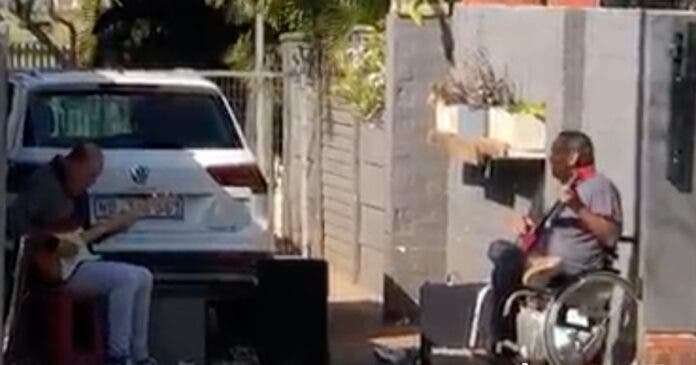 Band Entertains Neighbours from their Driveway in Durban
