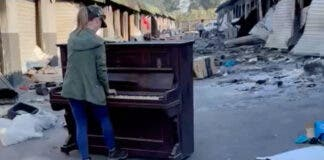 Jenny Bowes' piano playing helps heal the pain and heartache