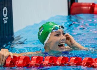 silver for South African swimmer Tatjana Schoenmaker in the women's 100m breaststroke