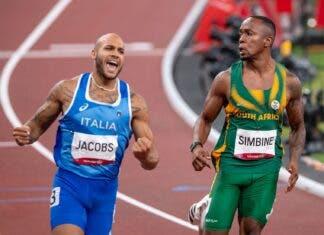 Akani Simbine races into fourth at Tokyo Olympics. Photo: Anton Geyser