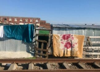 The Western Cape High Court has ordered that families living on PRASA land on the railway line in Langa be evicted and relocated. Photo: Tariro Washinyira