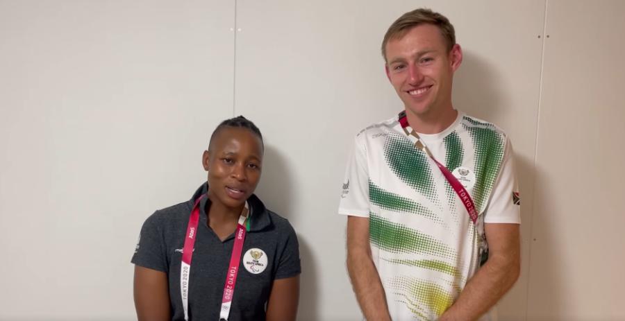 Kgothatso Montjane (KG) and world record holding track athlete Charl du Toit