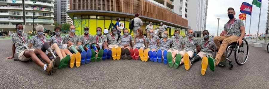 Paralympics Team SA in their gear sponsored by Mr Price Sports and Veldskoen Shoes. Photos; Team SA