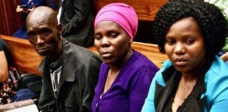 James and Rosina Komape and their eldest daughter, Lydia, sit in the Limpopo High Court in November 2017. Archive photo: Ciaran Ryan