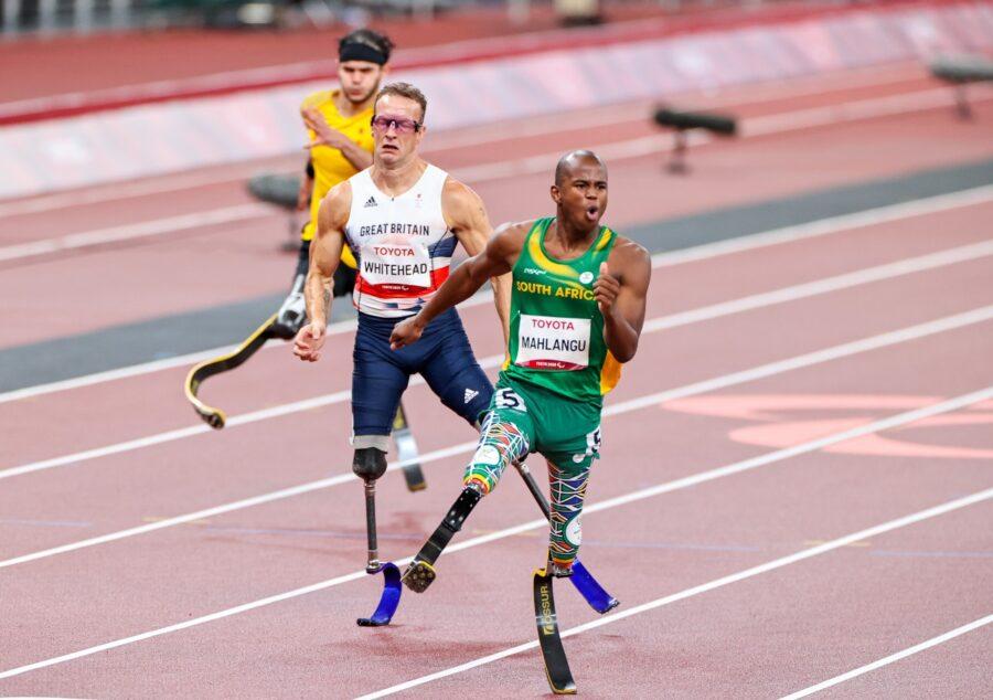 Mahlangu Ntando wins gold Paralympics Photo: Roger Sedres