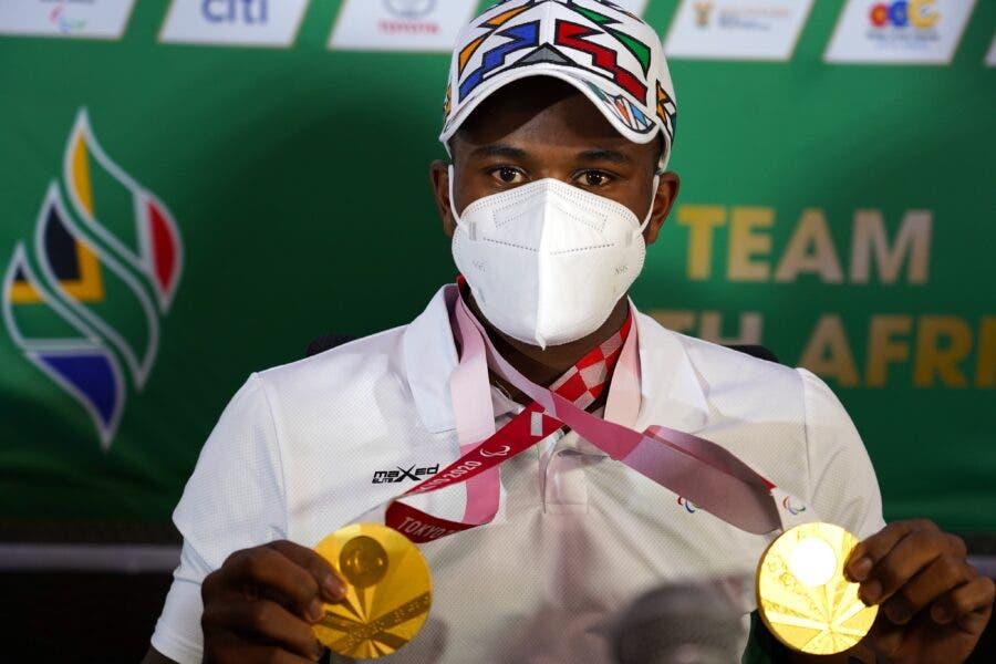 Ntando Mahlangu two gold medals