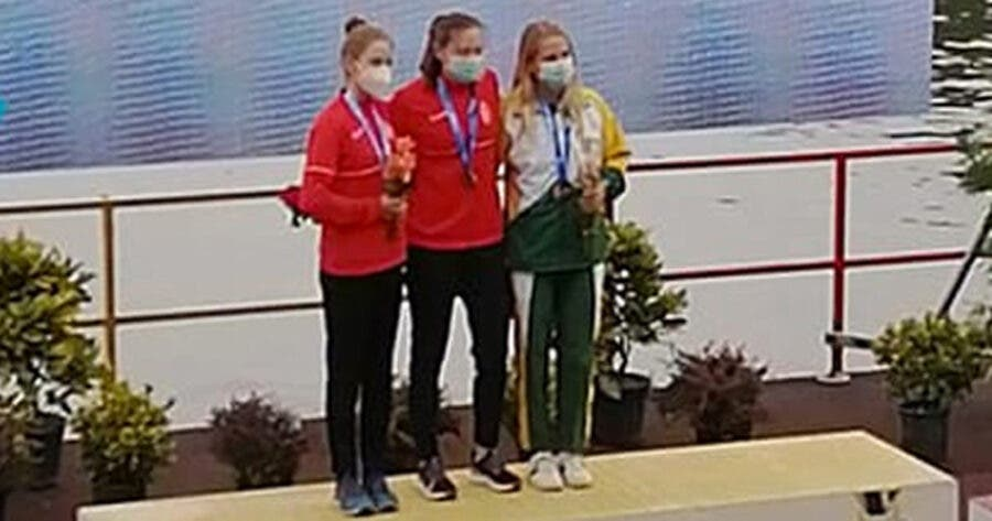 Saskia Hockly medal for South Africa in Romania