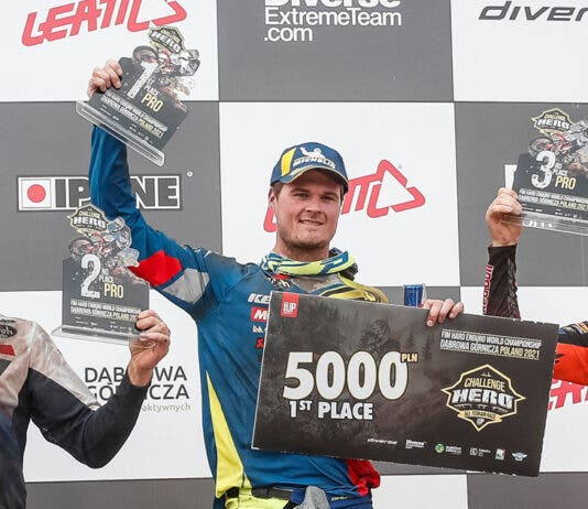 Wade Young Wins Top Prize at Enduro Championship in Poland. Photo: Red Bull content pool