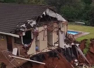 La Mercy House Collapse After Heavy Rains in Durban