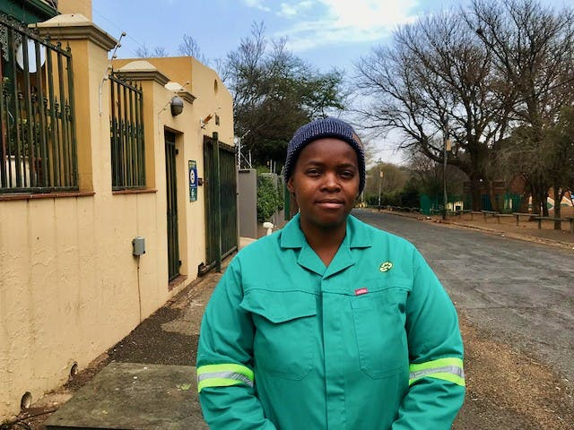 Paula Vilakazi is a reclaimer and administrator for the African Reclaimers Organisation. She has been a member of ARO for three years. Photo: Masego Mafata