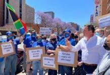 DA John Steenhuisen Afrikaans petition protest