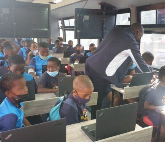 Bus transformed into mobile classroom for learners in Langa