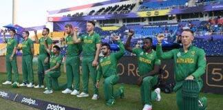 cricket south africa take the knee quinton de kock