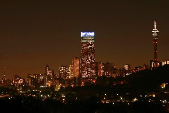 Johannesburg at night. Photo: Nico Roets viaFlickr(CC BY 2.0)